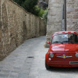 Red Italian car - Stock Photo