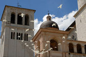 Basilica in Assisi — Stock Photo