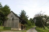 Деревянный сарай — Стоковое фото