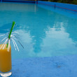 Cocktail at the swimming pool — Foto Stock