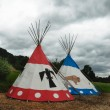 Two tipi for Indian - Stock Photo