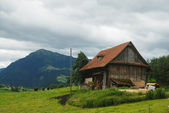 Typical barn in Switzerland — Stock Photo