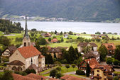 Typical village in Switzerland — Stock Photo