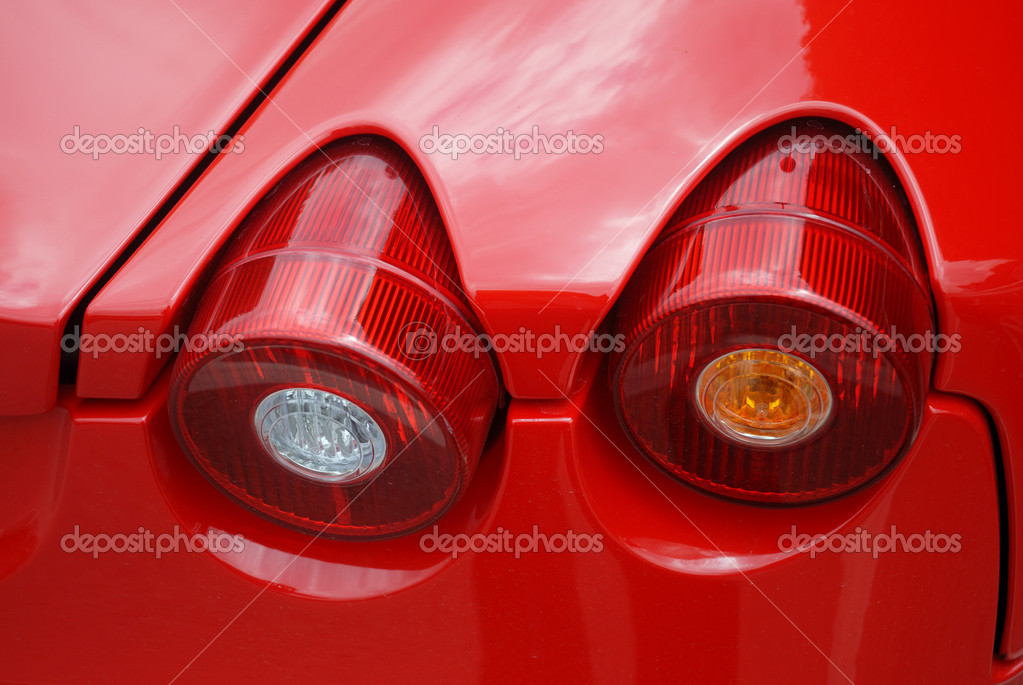 Detail of a famous Italian car — Stock Photo #2331406