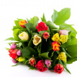 Colorful bouquet of tulips - Stock Photo
