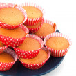 Red cupcakes — Stock Photo