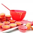 Baking cup cakes - Stock Photo