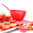 Royalty-Free Stock Photo: Baking cup cakes