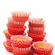 Many red cup cakes — Stock Photo #2444362