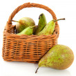 Basket pears — Stock Photo