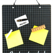 Memo board school — Stock Photo