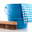 Royalty-Free Stock Photo: Cleaning in blue