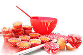 Baking cup cakes — Stock Photo
