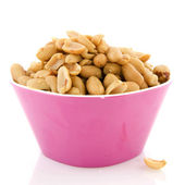Bowl with peanuts — Stock Photo
