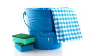 Cleaning in blue — Stock Photo
