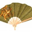 Batik hand-held fan — Stock Photo