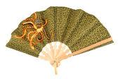 Batik hand-held fan — Stock Photo
