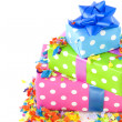 Royalty-Free Stock Photo: Colorful presents for birthday