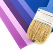 color samples with paint brush — Stock Photo