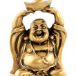 Funny golden Buddha - Stock Photo