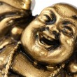 Funny golden Buddha — Foto Stock