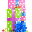 Colorful presents for birthday — Stock Photo