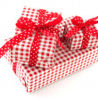 Presents in red and white — Stock Photo