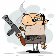 Cartoon Character Mobster Carries — Stock Photo #2172506