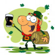 Lucky Leprechaun Toasting With A Glass — Stock Photo #2339921
