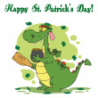 happy st patricks day greeting — Stock Photo #2340264
