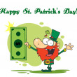 Happy St Patrick's Day Greeting — Stock Photo