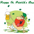 Stock Photo: Happy St Patricks Day Greeting