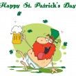 happy st patricks day greeting — Stock Photo #2340431
