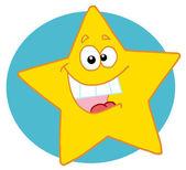 Happy Yellow Star — Stock Photo