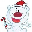 Christmas Polar Bear — Stock Photo