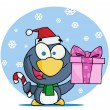 Christmas Penguin — Stock Photo