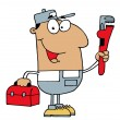 Royalty-Free Stock Photo: Hispanic Plumber Man
