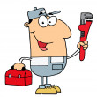 Stock Photo: Plumber Man