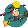 Halloween little witch - Stock Photo