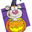 Cartoon character halloween mouse - Stock Photo