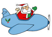 Waving Santa Claus Flying — Stock Photo