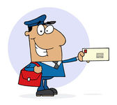 Happy Hispanic Postal Worker — Stock Photo