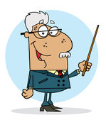 Happy Hispanic Senior Professor Man — Stock Photo