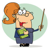 Cartoon Teacher Woman — Stock Photo