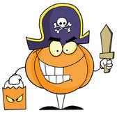 Cartoon character halloween pumkin — Stock Photo