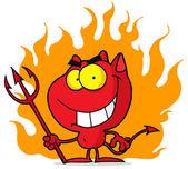Cartoon halloween devil — Stock Photo