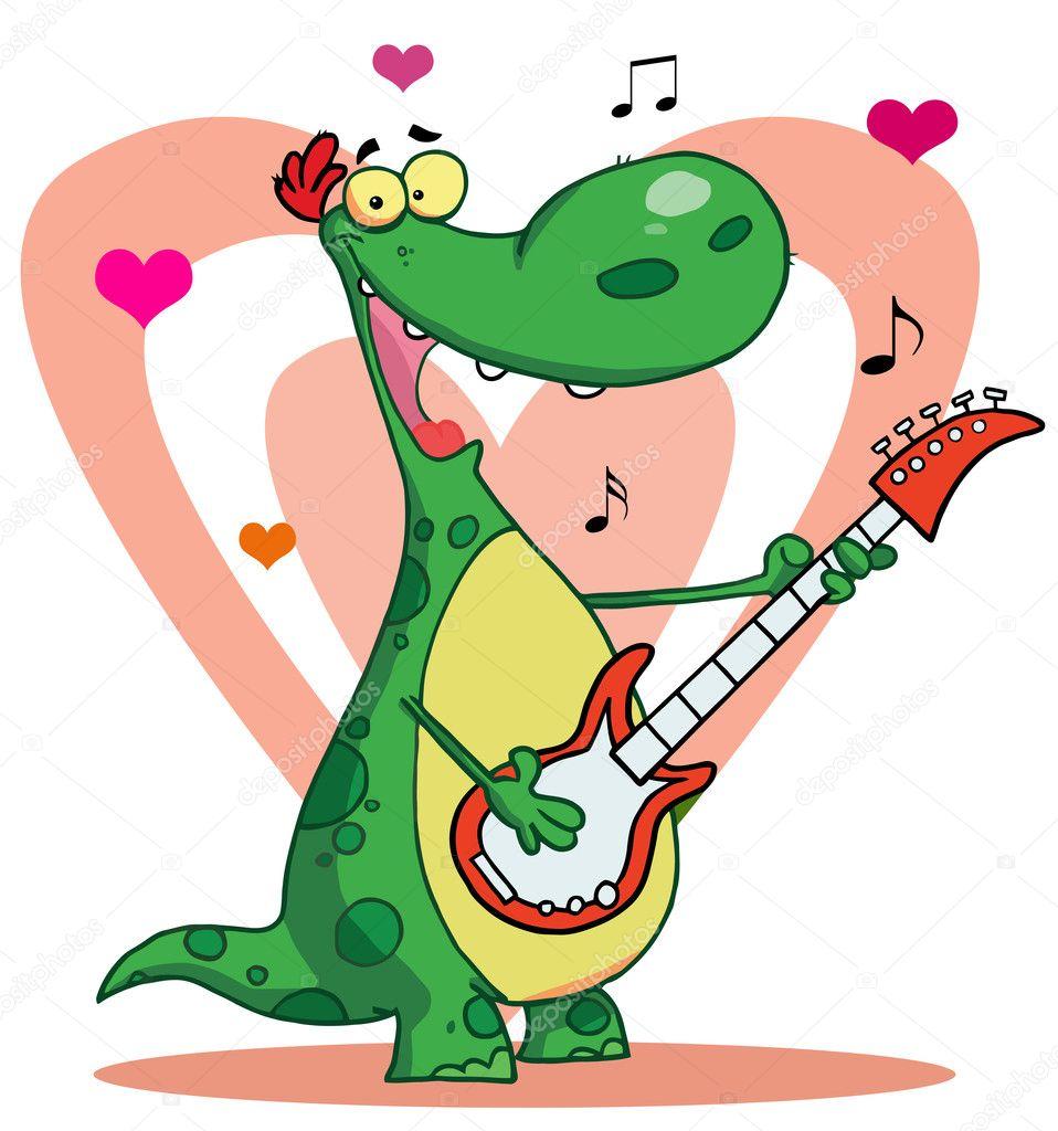 Поздравление от динозавра