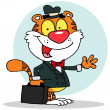 Salesman Tiger — Stock Photo