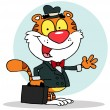 Salesman Tiger - Stock Photo