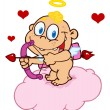 Stock Photo: Happy Baby Cupid